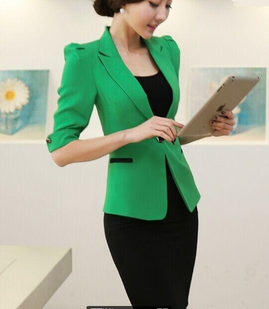 Elegante Dimensioneur completo donna verde nero giacca manica corta corta corta gonna 7072 453efa