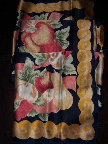 Damentuch 100x100 cm meurtres-Design pommes Motif bleu sons