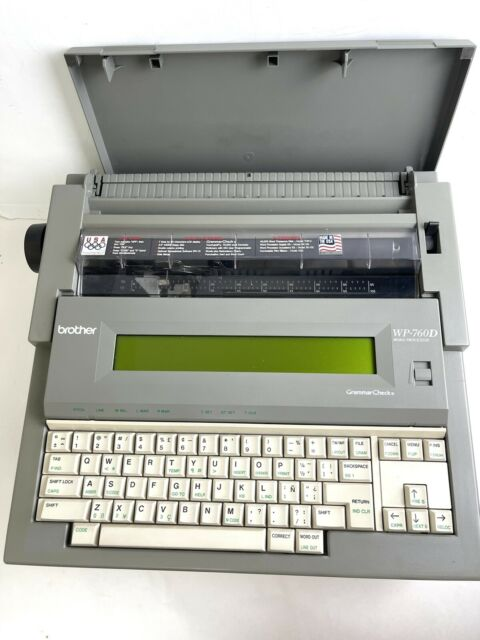 Brother WP-760D Portable Word Processor Electronic Typewriter with Cover - works
