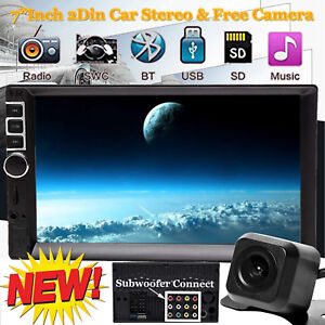 2 Din 7 Touch Screen Fm Bluetooth Radio Audio Stereo Car Video