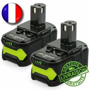2x Batteries Remplacement Ryobi One Plus 5.0ah 18v Lithium High Quality P108 Doux Et Doux