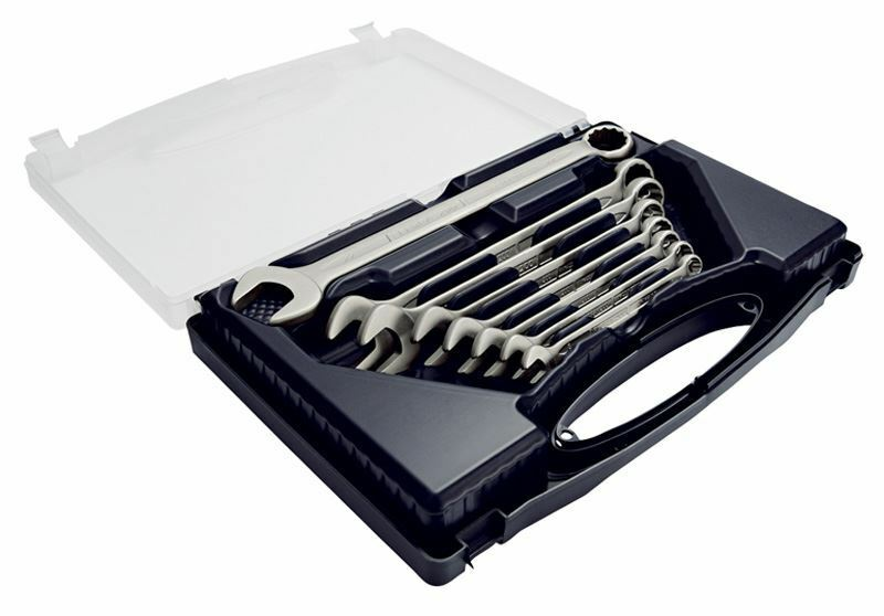 Elora 8 Piece Long Metric Stainless Steel Combination Spanner Set 44019