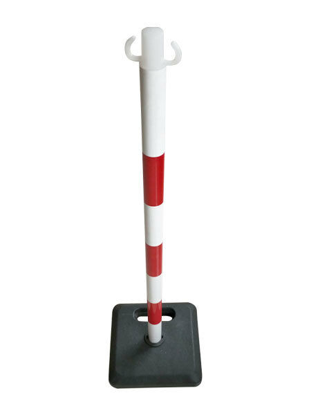 Kettenständer Absperrpfosten Kette Kunststoff rot/weiß Massiver Fuß vers. Längen