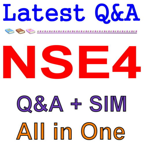 Fortinet Network Security Expert 4 Written 400 NSE4 Exam Q/&A PDF+SIM