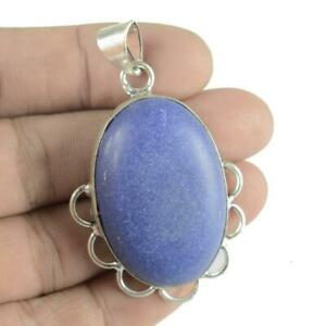 Lapis-Lazuli-Gemstone-925-Sterling-Silver-Plated-Ethenic-Jewelry-Pendant-Pt3254