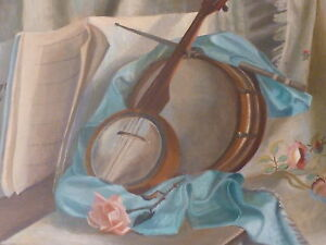 LARGE-OIL-MUSIC-AND-ROSES-EXHIBTED-ARTIST-F-DUNBAR-FREE-SHIPPING-TO-ENGLAND