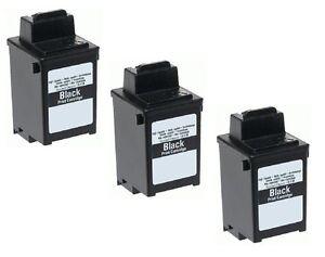 3 x Tinte für Samsung Fax SF3000 SF3100 SF3200 komp. zu INK-M10 Schwarz