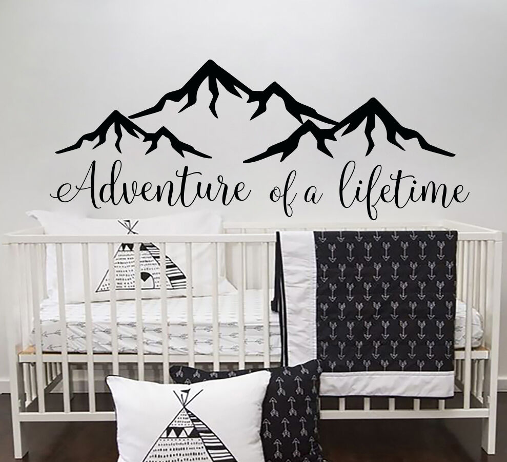 Quotes Wall Decal Adventure of a lifetime Vinyl Decor Boy Nursery Decal Baby S82