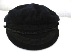 Chapeau-Marin-Laine-Vintage-Marine-hat-Seemanns-Hut-Beret-Baskenmutze-Bleu-wool