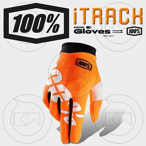 GUANTI-100-ITRACK-MX-CAL-TRANS-ORANGE-ADULTO-MOTOCROSS-ENDURO-OFF-ROAD-ATV-MTB