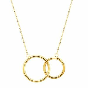 Eternity-Gold-Interlocking-Rings-Necklace-in-10K-Gold