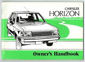 """horizon Owner's Handbook"" 1978 Original (chrysler)-afficher Le Titre D'origine"