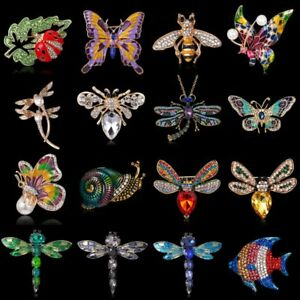 Crystal-Insect-Animal-butterfly-Bee-Women-Brooch-Pin-Costume-Breastpin-Jewelry