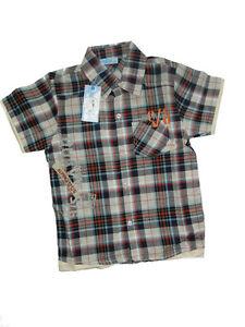 NEU-Jungen-Freizeithemd-Hemd-Oberhemd-kariert-verschiedene-Farben-92-98-140-146