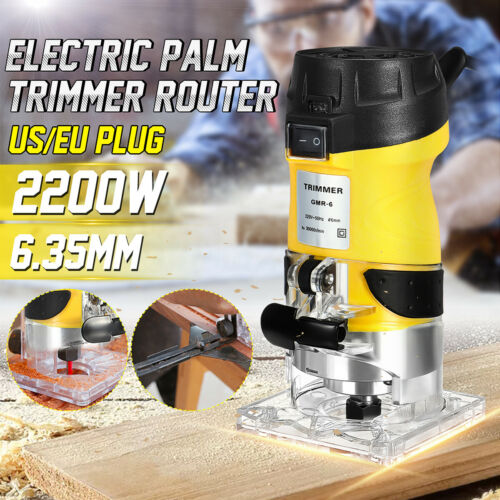 2200W Electric Handheld Trimmer Palm Router Laminate Trimmer Woodworking Joiner