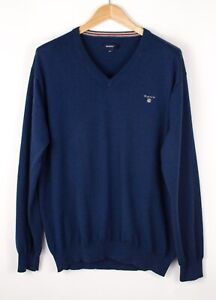 GANT-Men-Casual-Cotton-Wool-Knit-Jumper-Sweater-Size-2XL-XXL-ATZ1001
