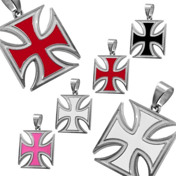 1 Anhänger Eisernes Kreuz Kettenanhänger Iron Cross Halskette Panzerkette Biker üPpiges Design
