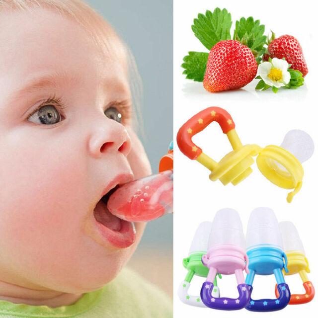 Portable Fresh Fruit Food Milk Kids Nipple Feeding Safe Baby Pacifier Neu
