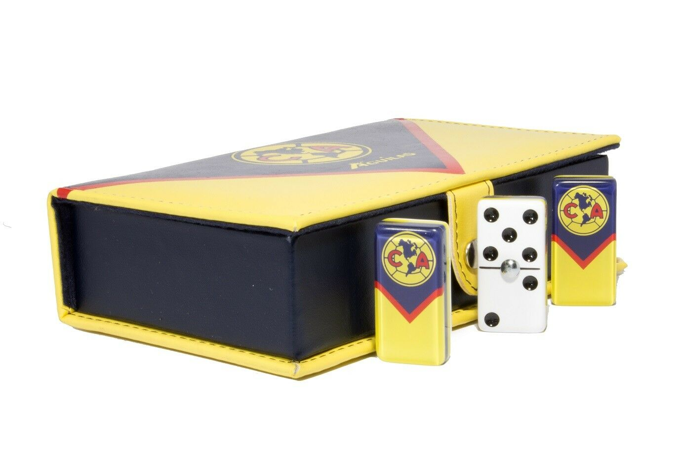 Aguilas Club America Domino 100% Acrylic. Faux Leather Case
