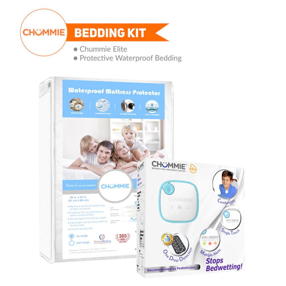 Chummie Elite Bedwetting Alarm Bedding Kit (Alarm + Waterproof Bedding)