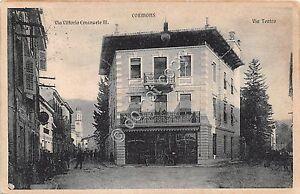 Cartolina-Postcard-Cormons-Via-V-Emanuele-Via-Teatro-animata-1916