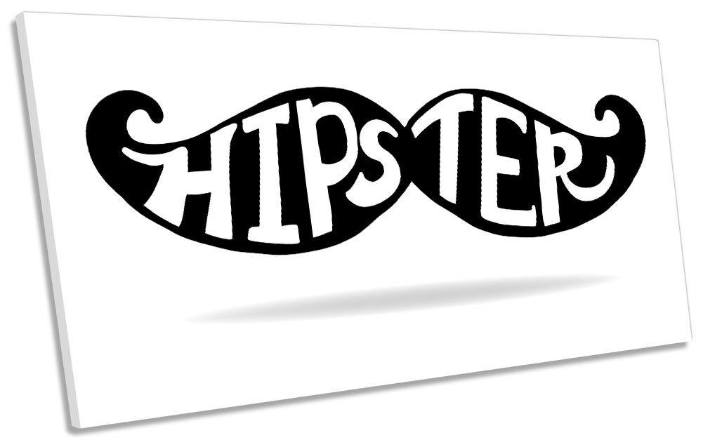 Hipster Mustache Bild PANORAMIC CANVAS Wand Kunst Drucken