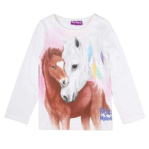Nuevo Miss Melody camiseta camuflaje perdeshirt potros blanco 116 128 140 152 84079