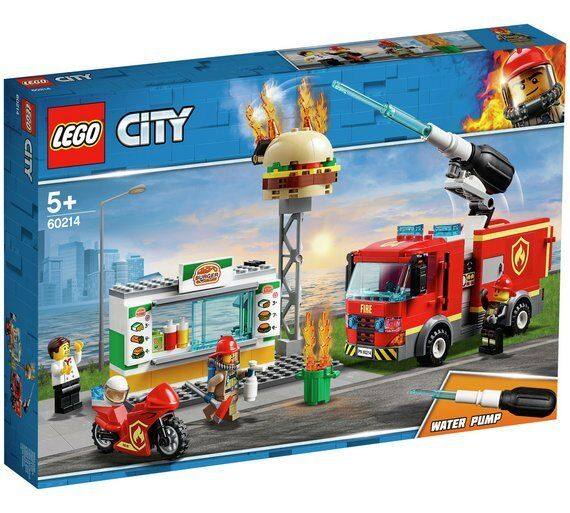 LEGO City Burger Bar Fire Rescue Toy Truck Playset- 60214 Best Game For Kids