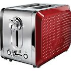 NEW BELLA 13701 Dots Collection 2-Slice Red Toaster,