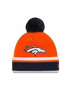 3d1c0e71a Details about NWT NFL Denver Broncos Team Relation New Era Knit Pom Beanie  Winter Hat Cap