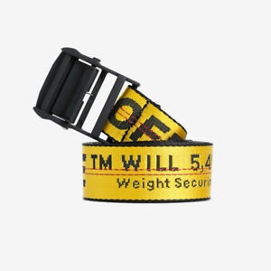 Nuovi Prodotti enorme sconto trova fattura Dettagli su OFF-WHITE Cintura industriale-Giallo- mostra il titolo originale