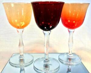 Finnish Glass Art Hand Blown Wine Glasses 3 Anni Paunila Signed Dated Ebay