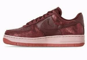Details about NEW Wmn's SZ Nike Air Force 1 '07 Premium Casual Shoes Burgundy Crush 616725 603