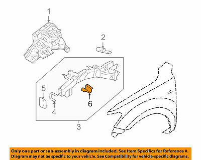 Genuine Hyundai Side Outer Extension Front Left 64774-2B200