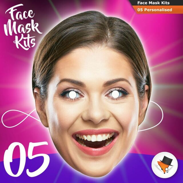 Face Masks Persoanlised Set of 5 DIY KITS For Hen Parties Birthdays Stag Party
