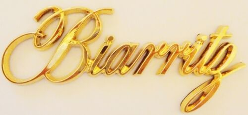 "NEW! Cadillac /""Biarritz/"" 24K GOLD PLATED EMBLEM!!"
