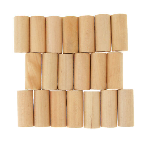 20Pcs Wood Cylinders Blocks Educational Toys for Kids Early Teaching Crafts
