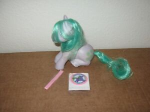 My Little Pony Sea shell G1  silky hair1983 with sticker vintage seashell