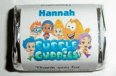 60 BUBBLE GUPPIES BIRTHDAY CANDY WRAPPERS LABELS ~ Personalized