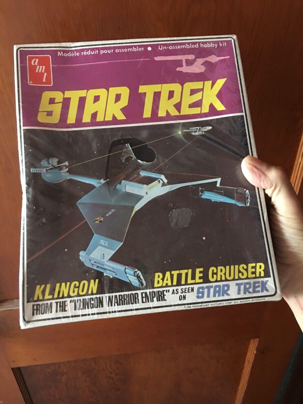 AMT Star Trek Klingon Battle Cruiser tall tall tall box sealed aa6