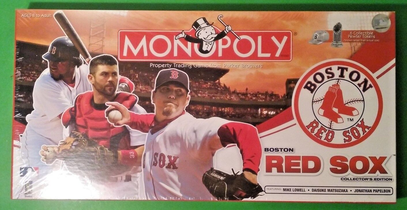Die boston rot sox collector 's edition monopoly parker brothers 2008