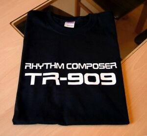 SYNTH-DRUM-MACHINE-T-SHIRT-ROLAND-TR-909-DESIGN-S-M-L-XL-XXL