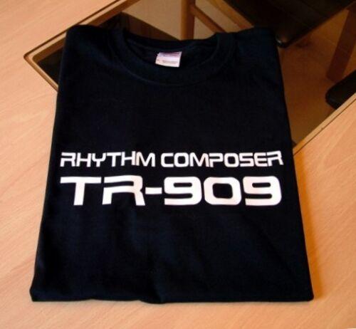 SYNTH DRUM MACHINE T SHIRT ROLAND TR 909 DESIGN S M L XL  XXL