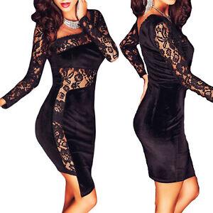 Vestito-donna-miniabito-tubino-aderente-pizzo-elegante-sexy-nuovo-DL-2192