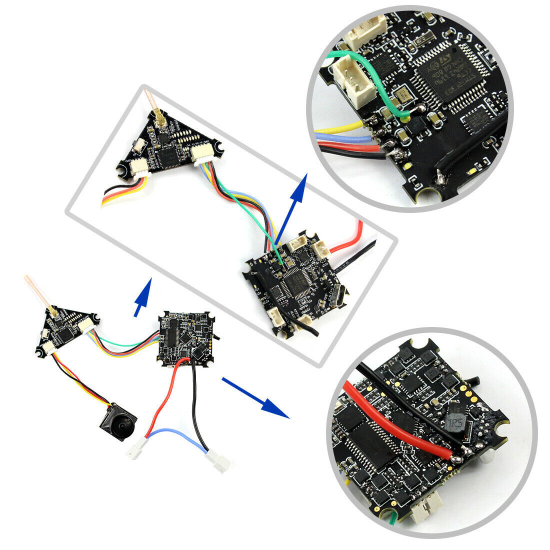 JMT 75mm V2 Crazybee F4 Pro OSD 2S FPV RC Racing Drone Caddx EOS2  Mini Camera