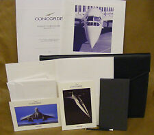 BA CONCORDE flight wallet+contents leather look Concord British Airways flagship