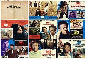 NO IL CASO E' FELICEMENTE RISOLTO SET FOTOBUSTE 8 PZ. POLIZIESCO 1973 LOBBY CARD