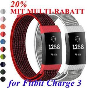 Nylon-Fiber-Band-Atmbar-Handgelenk-Strap-Ersatz-Armband-For-Fitbit-Charge-3