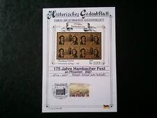 ▄▀▄ Historisches Gedenkblatt 175 Jahre Hambacher Fest - Auflage 500 Stück ▄▀▄