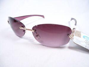 5ffd1c547a Image is loading Studio-35-rimless-Purple-sunglasses-Crystal-Gold-Metal-